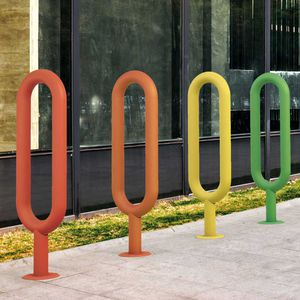 galvanized steel bike rack / stainless steel / original design / for public spaces