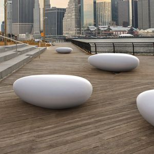 public bench / garden / contemporary / high-performance concrete