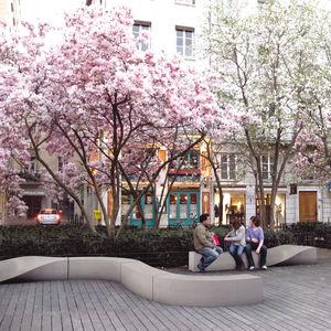 public bench / original design / composite material / modular