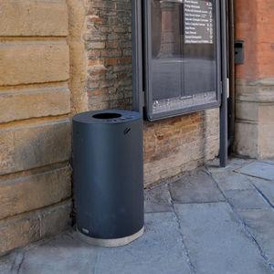 public trash can / galvanized steel / COR-TEN® steel / contemporary