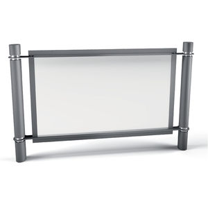 protective barrier / fixed / galvanized steel / for public spaces