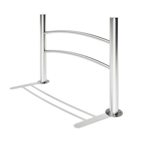 protective barrier / fixed / stainless steel / for public spaces