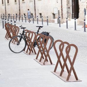 galvanized steel bike rack / original design / for public spaces