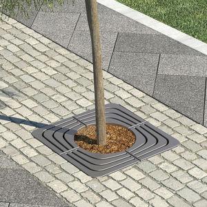 square tree grate / steel / galvanized steel