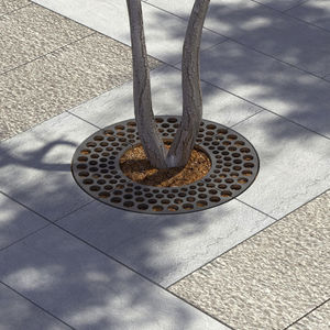 galvanized steel tree grate / round