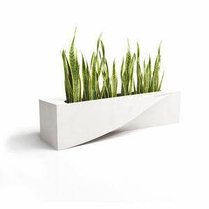 galvanized steel planter / composite / original design / for public spaces