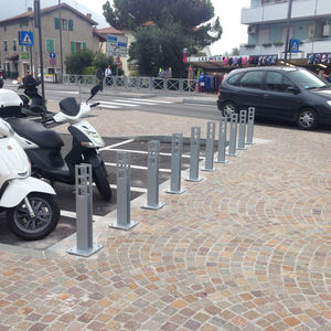 galvanized steel bike rack / stainless steel / original design / for public spaces