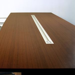 aluminum cable trunking / wall-mounted / desk / commercial