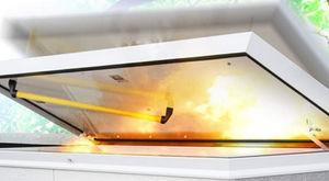 roof hatch / square / rectangular / aluminum