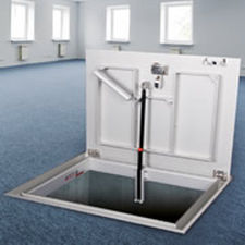 floor hatch / for tiled floors / square / rectangular