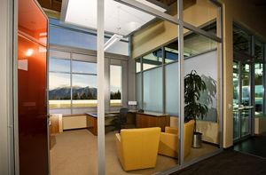 sliding patio door / steel / double-glazed