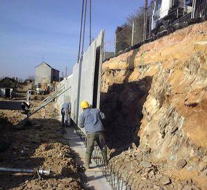 reinforced concrete precast double wall