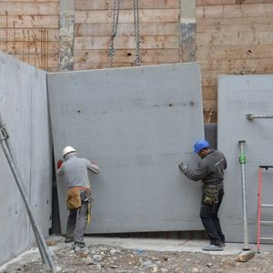 reinforced concrete precast double wall