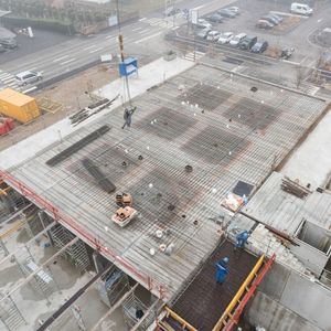 reinforced concrete precast core floor slab