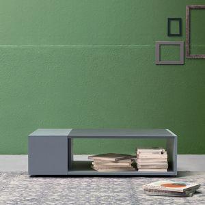 contemporary coffee table / wooden / resin / rectangular