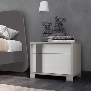 contemporary bedside table / lacquered wood / lacquered wood base / rectangular