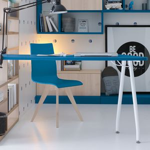lacquered wood desk / contemporary / child's