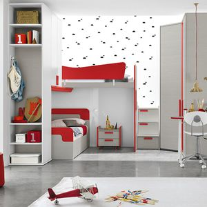 loft bed / single / contemporary / with in-base storage
