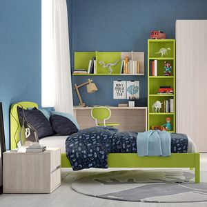 green children's bedroom furniture set / lacquered wood / unisex