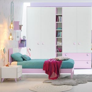 pink children's bedroom furniture set