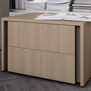 contemporary bedside table / wooden / wooden base / rectangular
