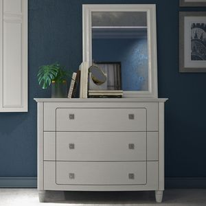 traditional chest of drawers / lacquered wood / contract / gray