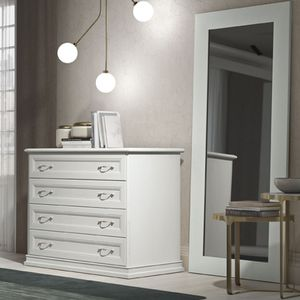 traditional chest of drawers / lacquered wood / contract / white