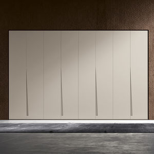 corner wardrobe / contemporary / melamine / with swing doors