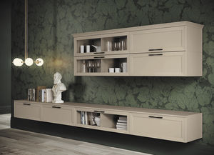 traditional living room wall unit