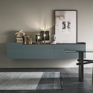 wall-mounted sideboard / contemporary / wooden / melamine