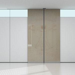 interior door / sliding / glass / steel