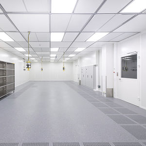 aluminum raised access floor / fire-retardant / indoor / for clean rooms