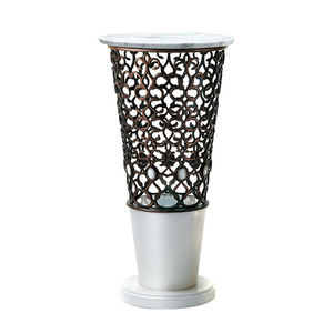 traditional pedestal / metal / marble