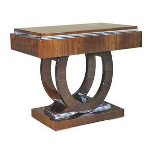 traditional bedside table / wooden / wooden base / rectangular