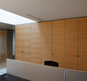 office storage wall / wooden
