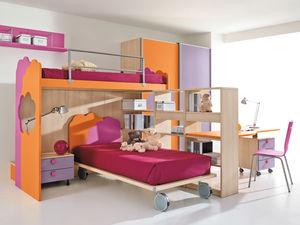 corner bunk bed / contemporary / child's unisex / wooden