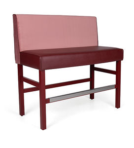 contemporary upholstered bistro bench