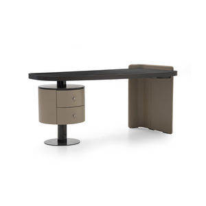 contemporary dressing table / wood veneer / leather / for hotel rooms