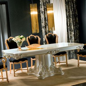classic dining table / crystal / rectangular / for hotel