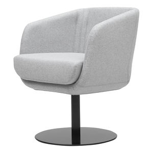 contemporary armchair / fabric / with removable cover / central base