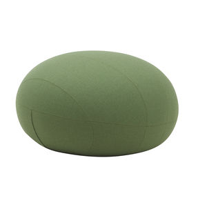contemporary pouf / fabric / round / with washable removable cover