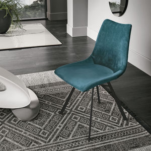 contemporary chair / upholstered / lacquered metal / PU