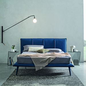 king size bed / contemporary / upholstered / with headboard