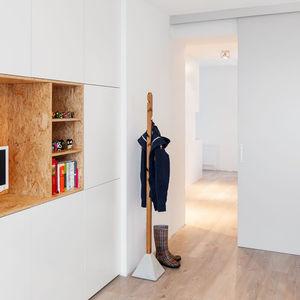 floor coat rack / contemporary / oak