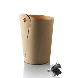 Metal Waste Paper Basket Wooden