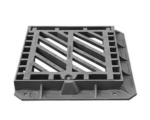cast iron drain grate / for public spaces