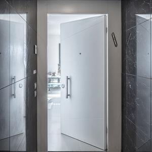 interior door / swing / wooden / security