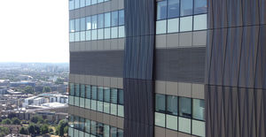 sheet cladding / aluminum / reinforced concrete / perforated