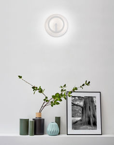 contemporary wall light / aluminum / LED / round