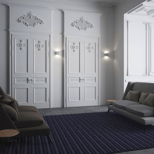 contemporary wall light / steel / LED / rectangular